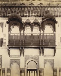 LV [Lakshmi Vilas] Palace, Balconies in the Darbar Hall [Vadodara]
